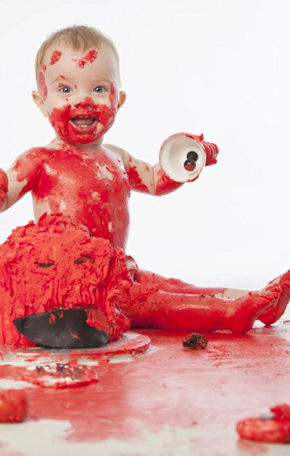 newborn cake smash 2