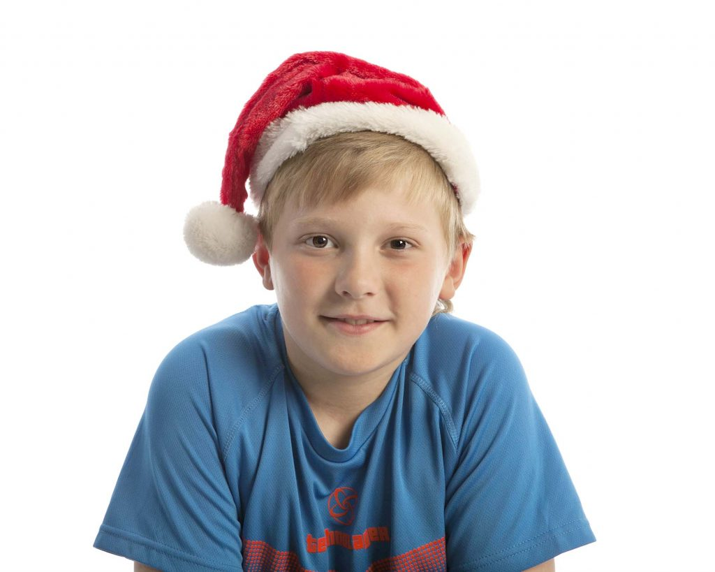 A photo with santa hat