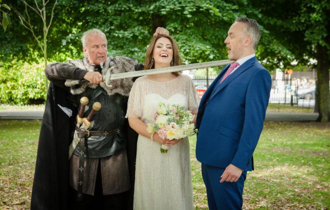 a viking at the wedding