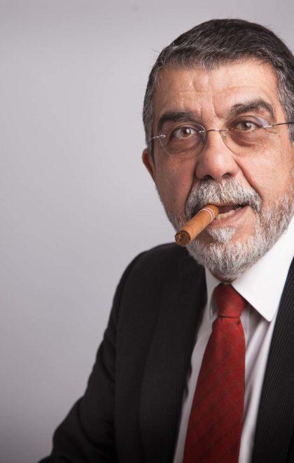 Headshot Man With Cigar
