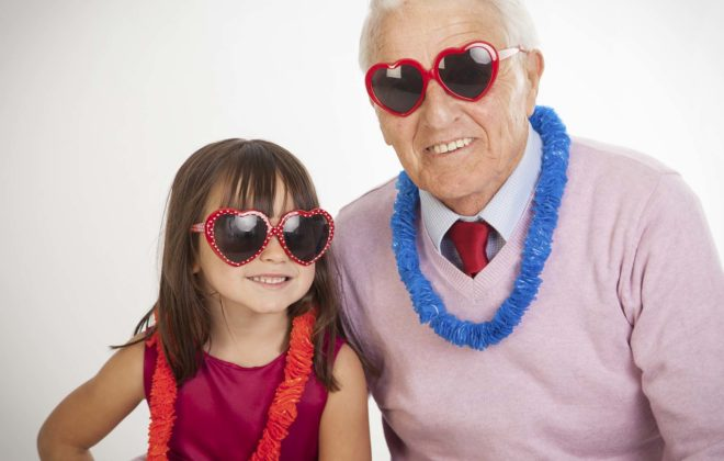 Family with Granddad and Daughter