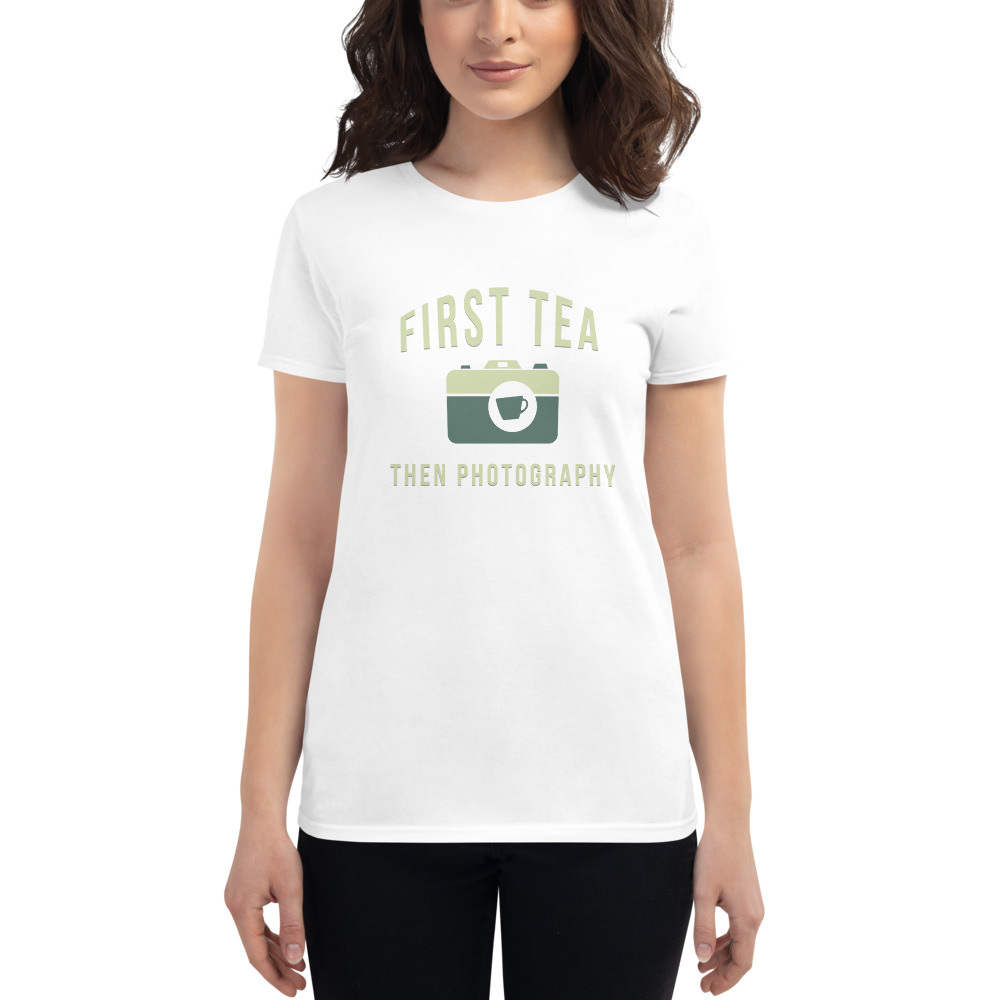 Tea Then Photography womens t-shirt