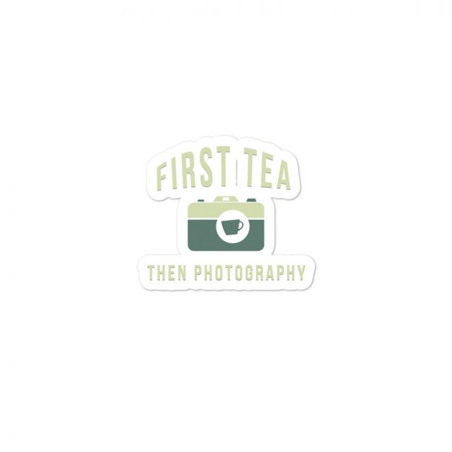 Tea Then Coffee Sticker