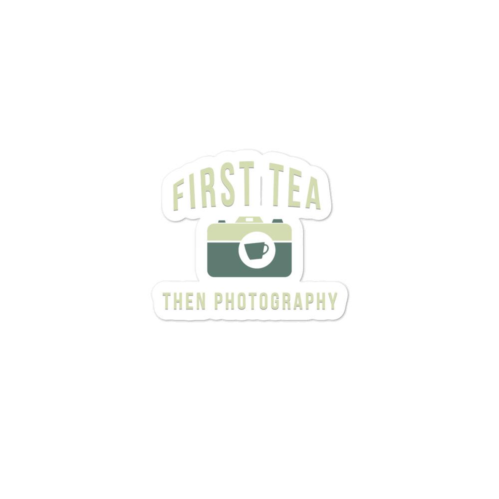 Tea Then Coffee Sticker