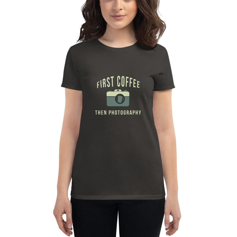 First Coffee Then Photography Girls T-Shirt