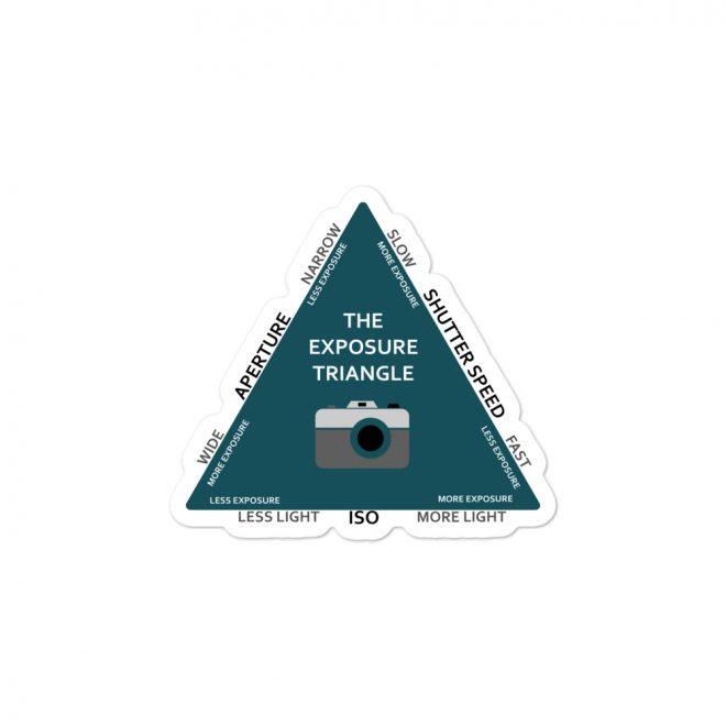 Exposure Triangle Sticker Small